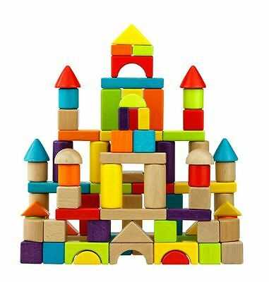 Wooden Building Blocks Set 150pc Kids Gift Educational Toy
