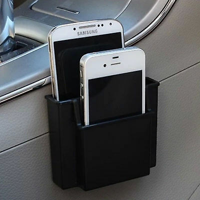 Storage Box Double Layer Cell Phone Holder Black Plastic Car  Iphone Sumsang