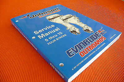 "EVINRUDE /JOHNSON  "" 5  thru  15 four stroke "", OUTBOARD MOTOR WORKSHOP  MANUAL"