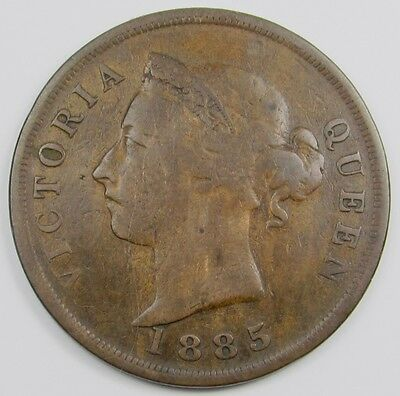 CYPRUS -  QUEEN VICTORIA  ONE PIASTRE COIN  dated 1885  (VERY RARE)