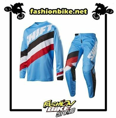 Abbigliamento Cross,enduro Completo Shift White Tarmac Blue 2017