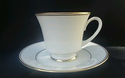 Noritake Goldine Vintage White Gold China Tea cup set of 6 Tea cups Japanese