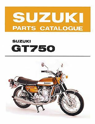 Suzuki GT750 J, K, L & M Parts Catalogue Kettle Water Buffalo