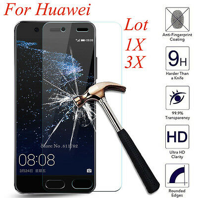 3X 9H+ Premium Tempered Glass Film Cover Screen Protector For Huawei P10 P9 Plus
