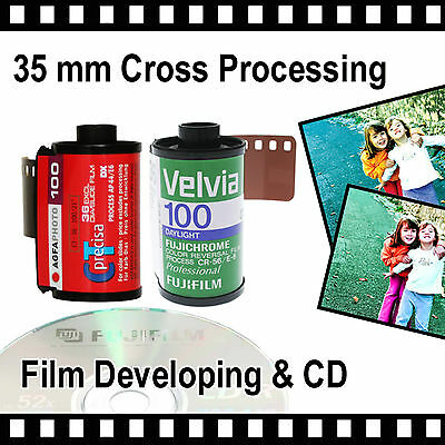 35mm Cross Processing Film & CD with FREE postage - 4.5mb Per Photo