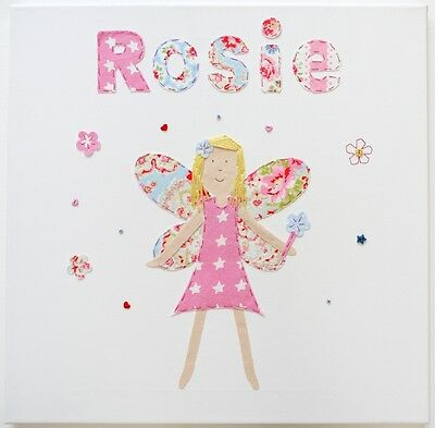 Personalised Handmade FAIRY girls wall canvas picture children's room nursery