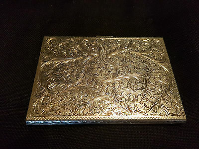 Antique Italian .800 Sterling Silver Engraved Cigarette Case. 172.3 g.