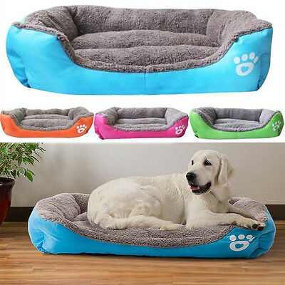 Pet Dog Cat Bed Puppy Cushion House Soft Warm Kennel Mat Pad Washable Blanket