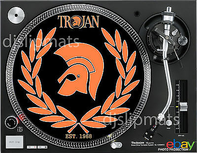 "1968 TROJAN RECORDS Jamaica 12"" or 7"" DJ SLIPMAT slip mat platter NEW mv"