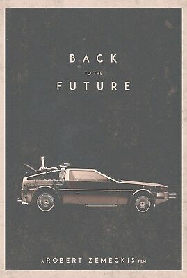 Classic 80's Back To The Future Movie Poster Print Picture T650 |A4 A3 A2 A1 A0|