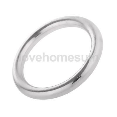 """Durable 304 Stainless Steel Round O Ring - 1"""" to 2"""" 12 Different Sizes Optional"""