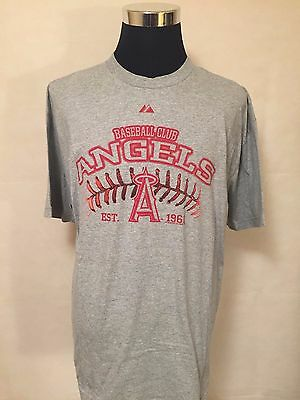 MLB Los Angeles Angels of Anahiem XL Stencil Arch & Logo Printed Tee by Majestic