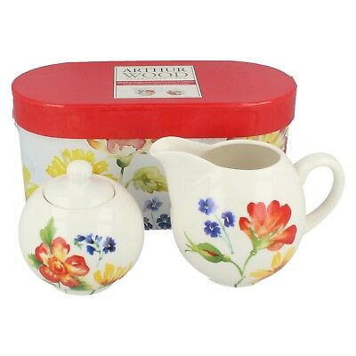 0124.241 Meadow sugar & 10oz creamer in giftbox By Arthur Wood  Retail £7.99
