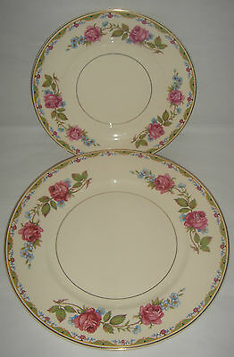John Maddock & Sons ' Rosemary ' Side & Dinner Plate c.1945 Floral Vintage