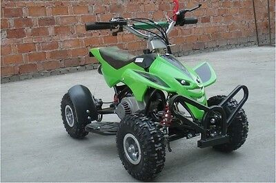 2017 Hawkmoto Street Assassin 50cc Kids Quad Bike Mini Moto - Kawasaki Green