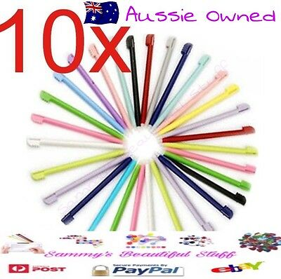 10 x Stylus pens - tools for Nintendo DS Lite NDSL, Random colours work perfect