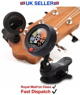 Eno Clip On Chromatic Acoustic Electric Guitar Bass Ukulele Banjo Accurate Tuner