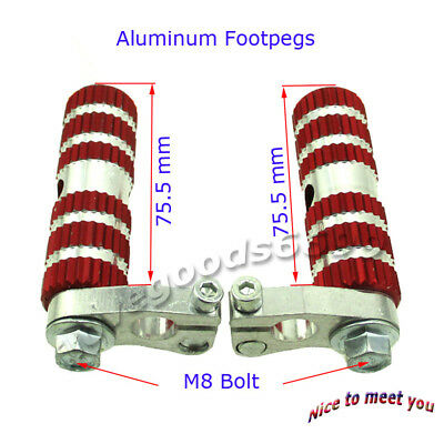 Aluminum Racing Footpegs Foot Rest Pegs For 47cc 49cc Mini Pocket Bike MTA1 MTA2