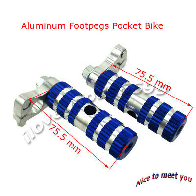 Aluminum Racing Footpegs Foot Rest Pegs For 47cc 49cc Pocket Bike Mini Moto
