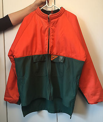 Stihl Chainsaw Safety Clothing XL: Matching Jacket & Trousers Green/Orange Used