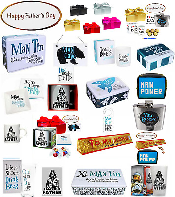 Fathers Day Gift Man tin Hip flask coaster granddad Birthday Present for Him