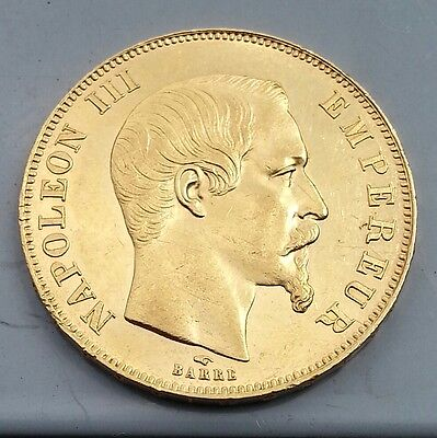 Goldmünze 50 Francs 1858A (Paris) Napoleon III