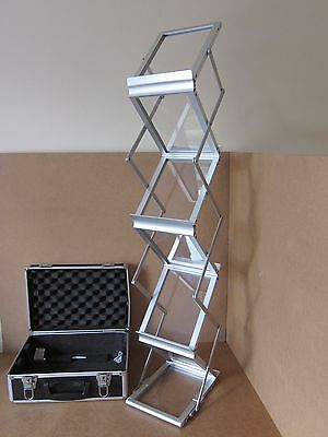 Brochure Display stand glass & aluminium