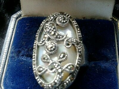 sterling silver stunning ring size q