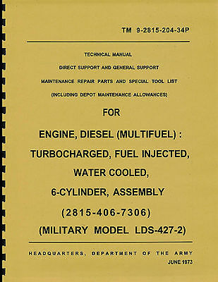 TM9-2815-204-34p ~ Repair Parts Manual ~ LDS-427-2 ~ Multifuel ~ Reprnt