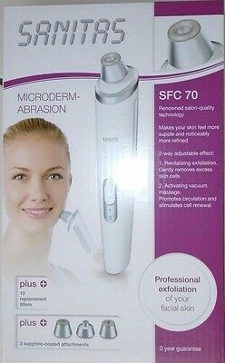 SANITAS Electric Tool Microdermabrasion Kit Set Skincare Protect SFC 70