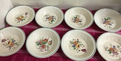 Set Of Eight Vintage Wedgwood 'Patrician' Small Dessert Bowls