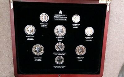 Her Majesty's Jubilee coinage Diamond Edition 24 carat gold plated coin set