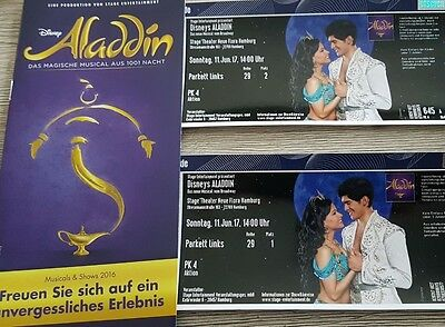 2 tickets musical aladdin hamburg 14 uhr schn ppchen eur 99 00 picclick de. Black Bedroom Furniture Sets. Home Design Ideas