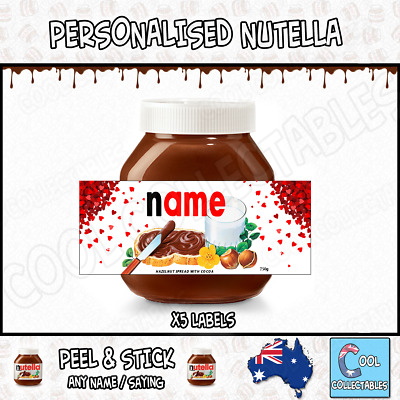 Nutella - Personalised Label - Make your own label - 750g -  Love Theme / 1