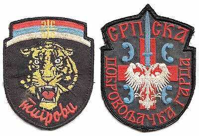 Serbia/ Balcan War Era-Serb Volunteer Guard Right And Left Sleeve Patches