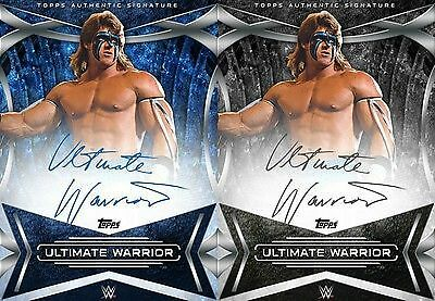 Topps SLAM WWE Ultimate Warrior Signature Series 2017 Silver & Blue [COMBO]