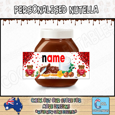 Nutella - Personalised Label - Make your own label - 750g -  Love Theme / 2