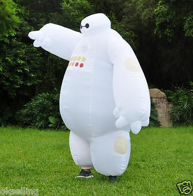 new Baymax Mascot Adult Inflatable Big Hero 6 Fantasia Costume halloween Outfit