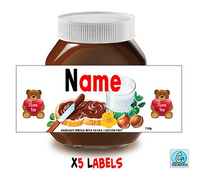 Nutella - Personalised Label - Make your own label - 750g -  Love Theme / 3