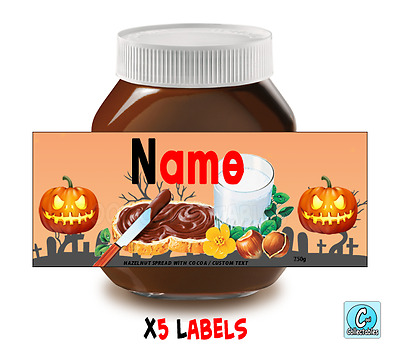 Nutella - Personalised Label - Make your own label - 750g -  Halloween Theme