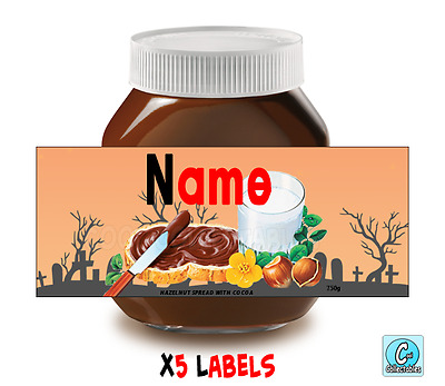 Nutella - Personalised Label - Make your own label - 750g -  Halloween Theme / 2
