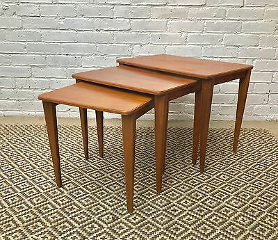 Gordon Russell Nest of Mid Century Wooden Tables