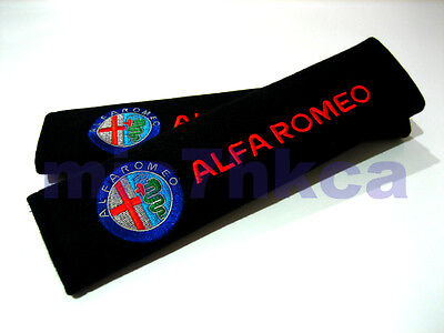 2x soft car seat belt cushion shoulder cover pads for ALFA ROMEO (UK stock)