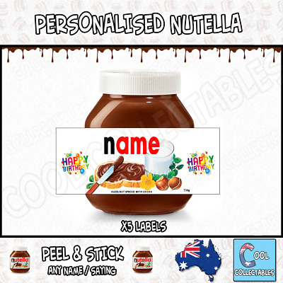 Nutella - Personalised Label - Make your own label - 750g - Birthday Theme / 2