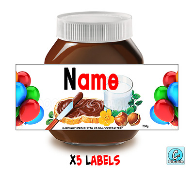 Nutella - Personalised Label - Make your own label - 750g - Birthday Theme / 3
