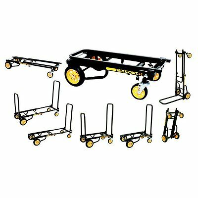 Rock N Roller Music Multi-Cart R2 Rt Micro 8 carts in ONE Trac Wheels Expandable
