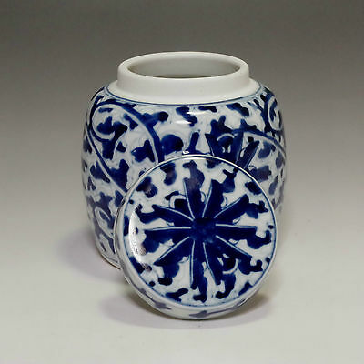 Modern Chinese Blue and White Porcelain Tea Caddy for Kung Fu Tea #481