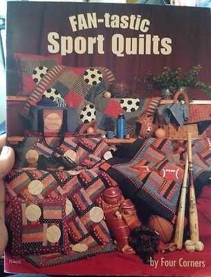 Sport Quilt Patchwork Pattern Book Football Cushion Bag Throw Wallhanging