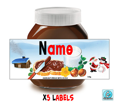 Nutella - Personalised Label - Make your own label - 750g - Christmas Theme / 1