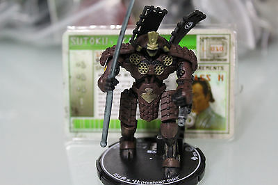 "Wizkids MechWarrior KATSURO SUTOKU ""HASHIRA"" SHIRO (Unique) - LOOSE"